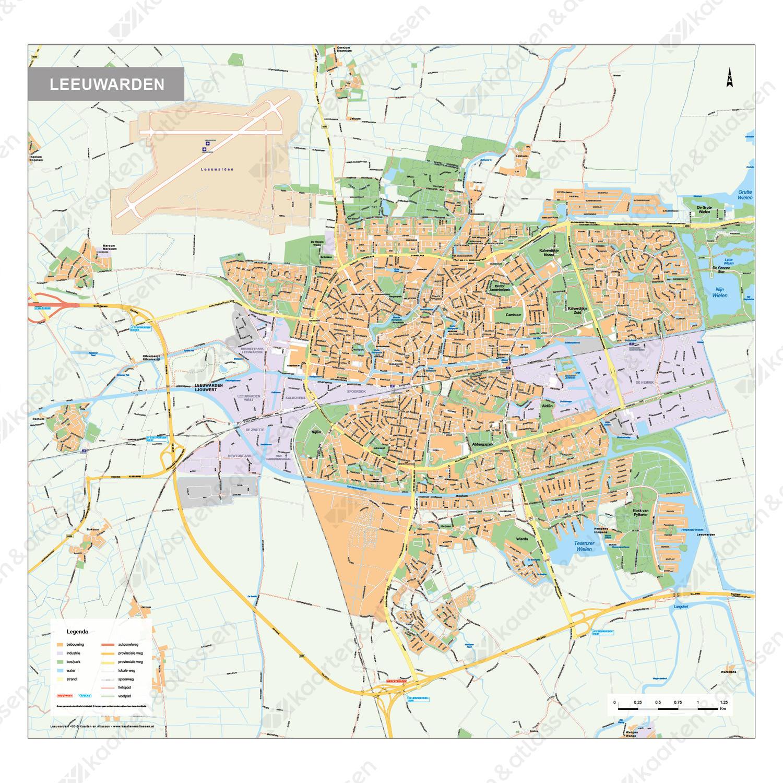 Kaart Leeuwarden 400 Kaarten En Atlassen Nl