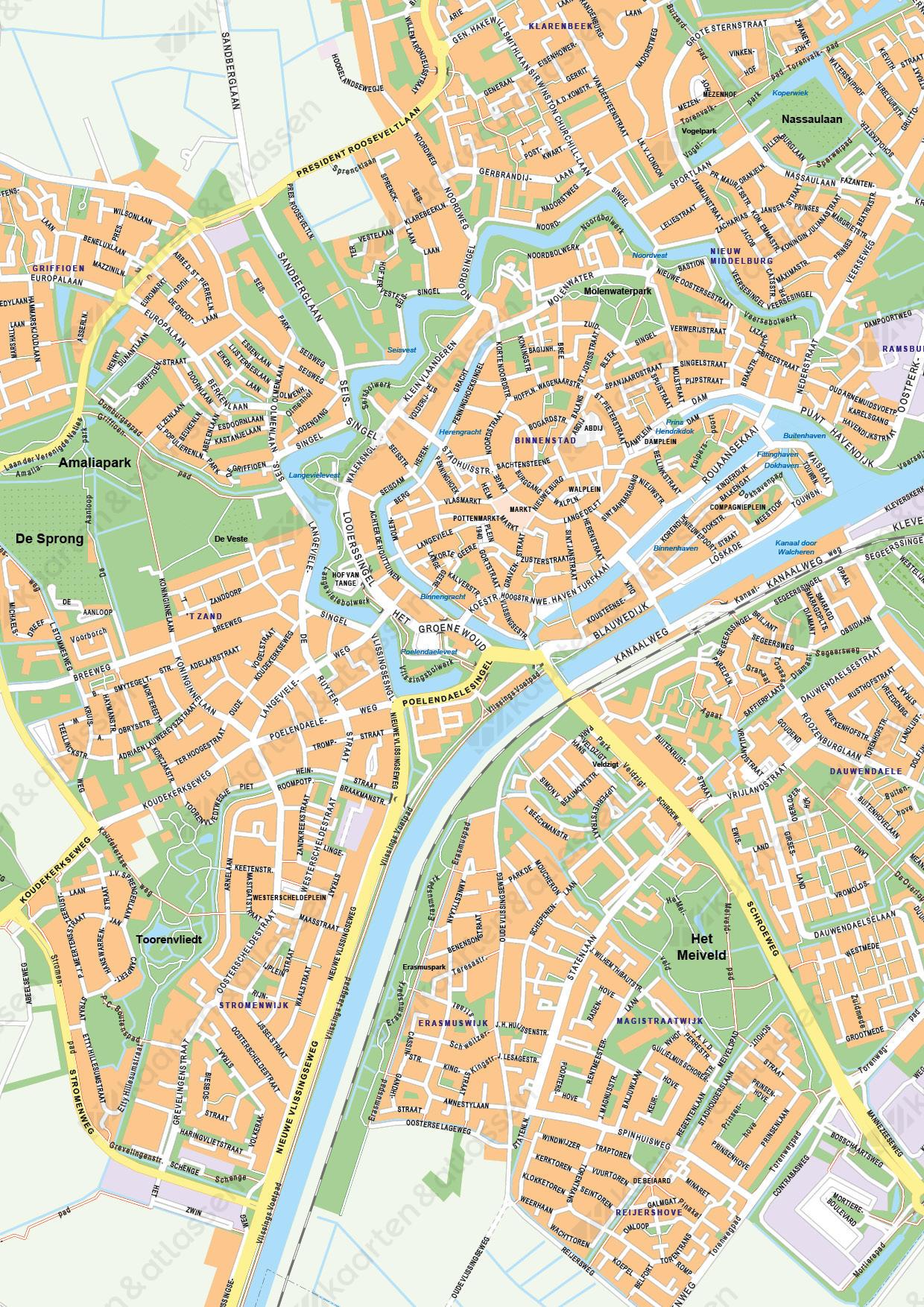 Digitale Kaart Middelburg