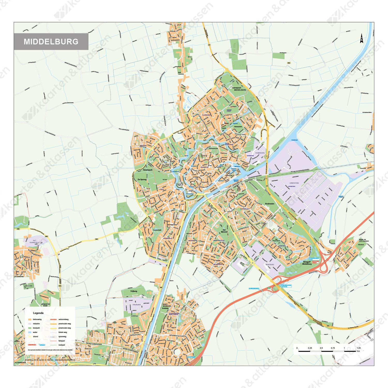 Kaart Middelburg