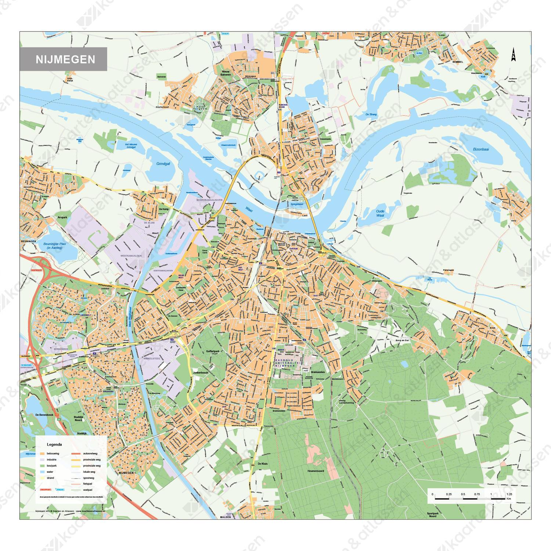 Kaart Nijmegen 403 Kaarten En Atlassen Nl