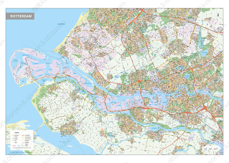 Digitale Kaart Groot Rotterdam Rijnmond