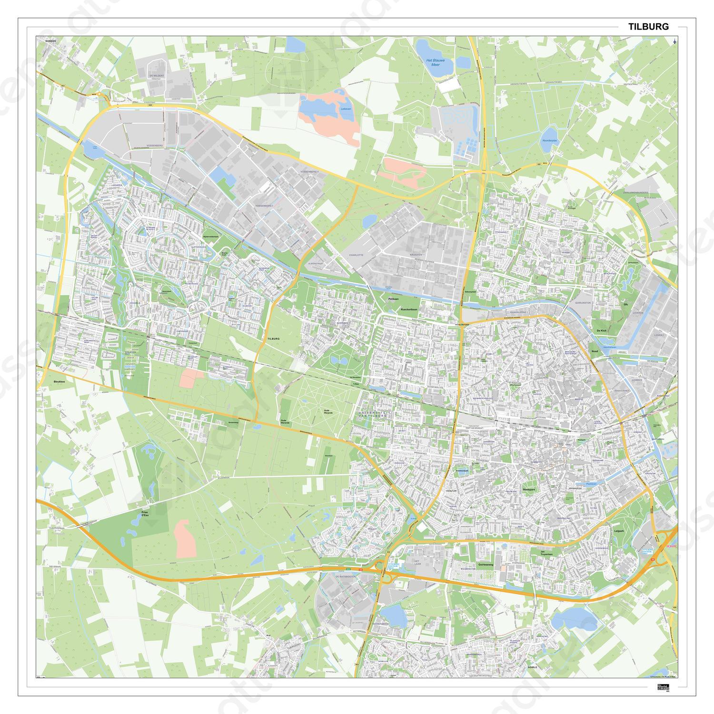 Digitale Kaart Tilburg 405DG