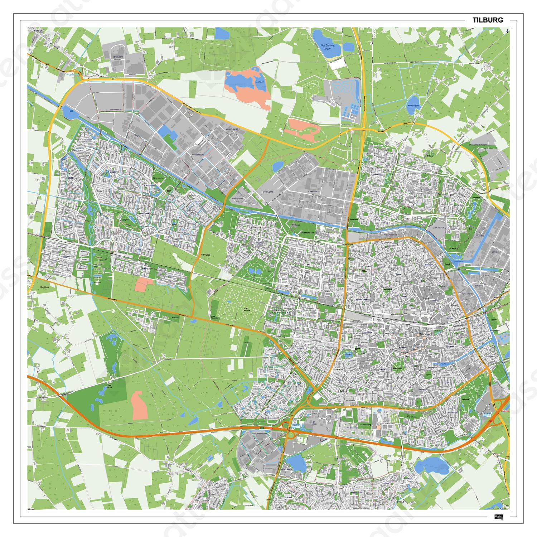 tilburg kaart Kaart Tilburg 405DG   Kaarten en Atlassen.nl