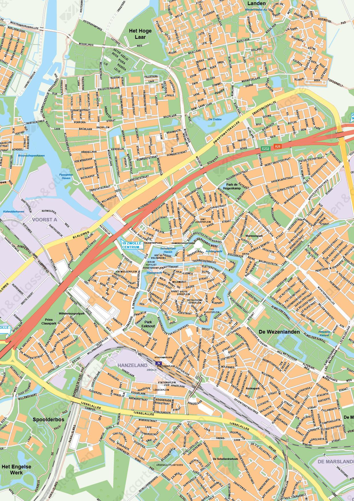 Kaart Zwolle
