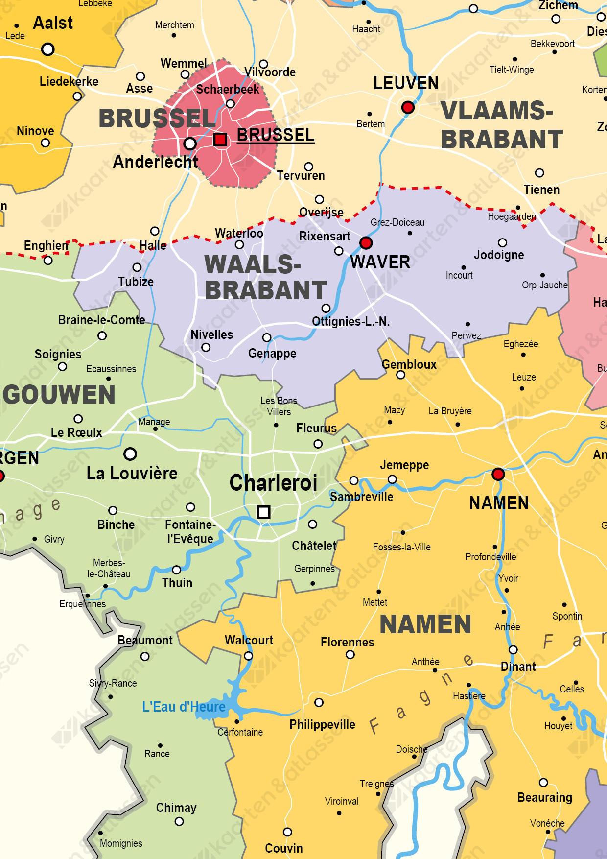Digitale Kaart België Staatkundig