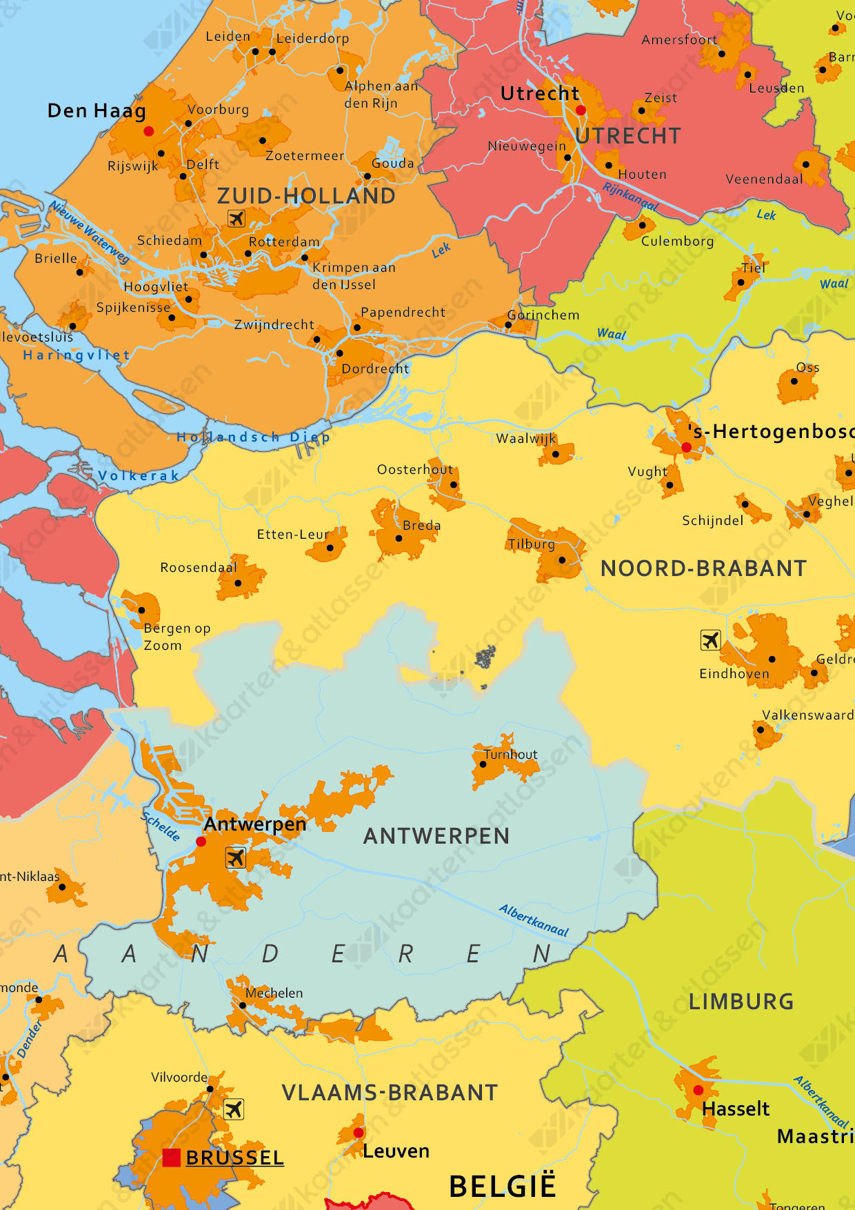 Digitale schoolkaart Benelux