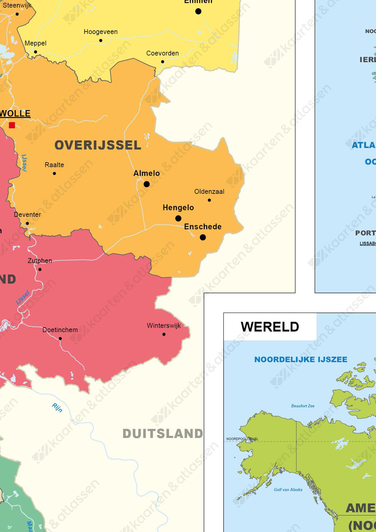 Digitale Schoolkaart Nederland, Europa en Wereld