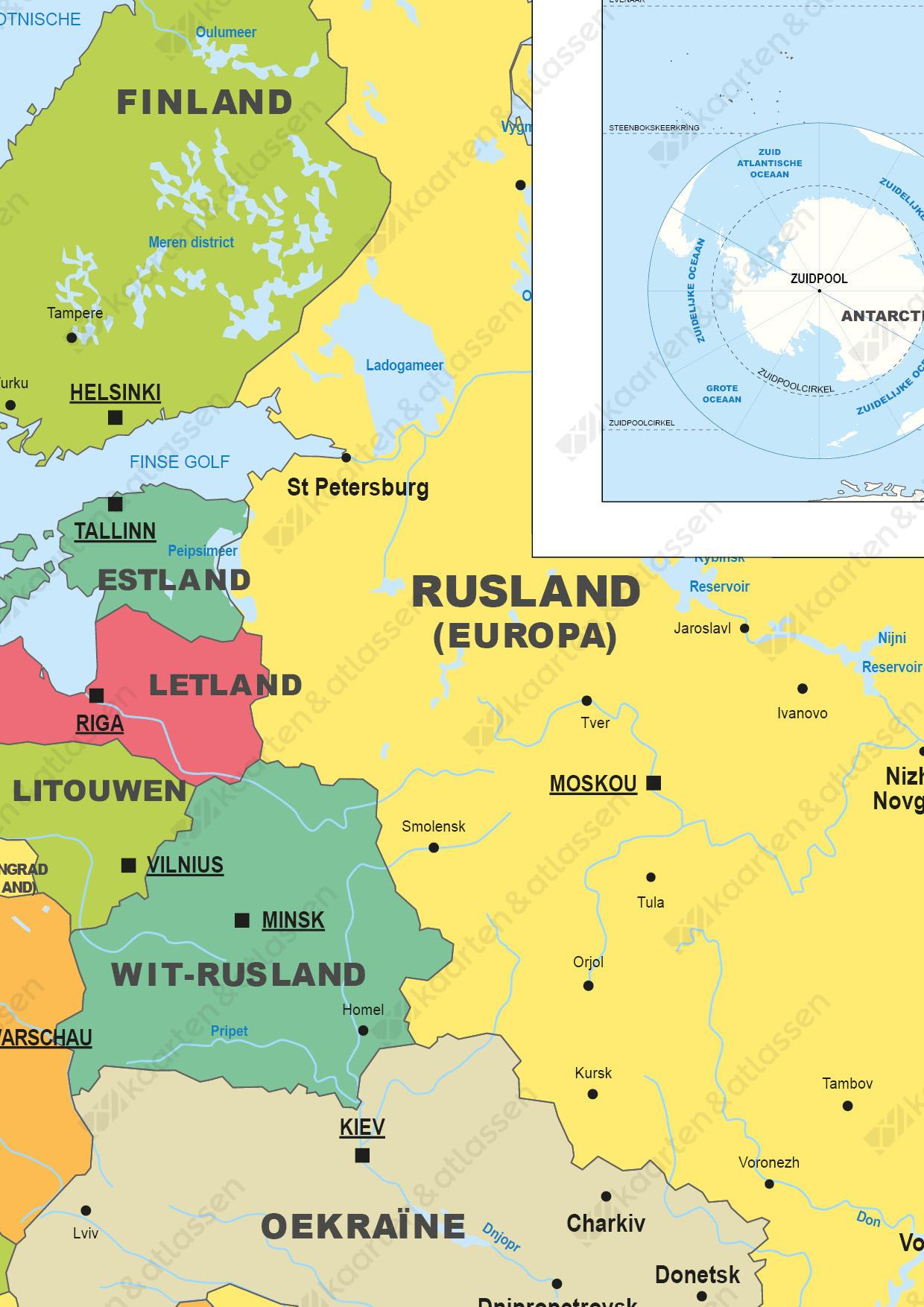 Digitale Schoolkaart Europa/Wereld/Nederland