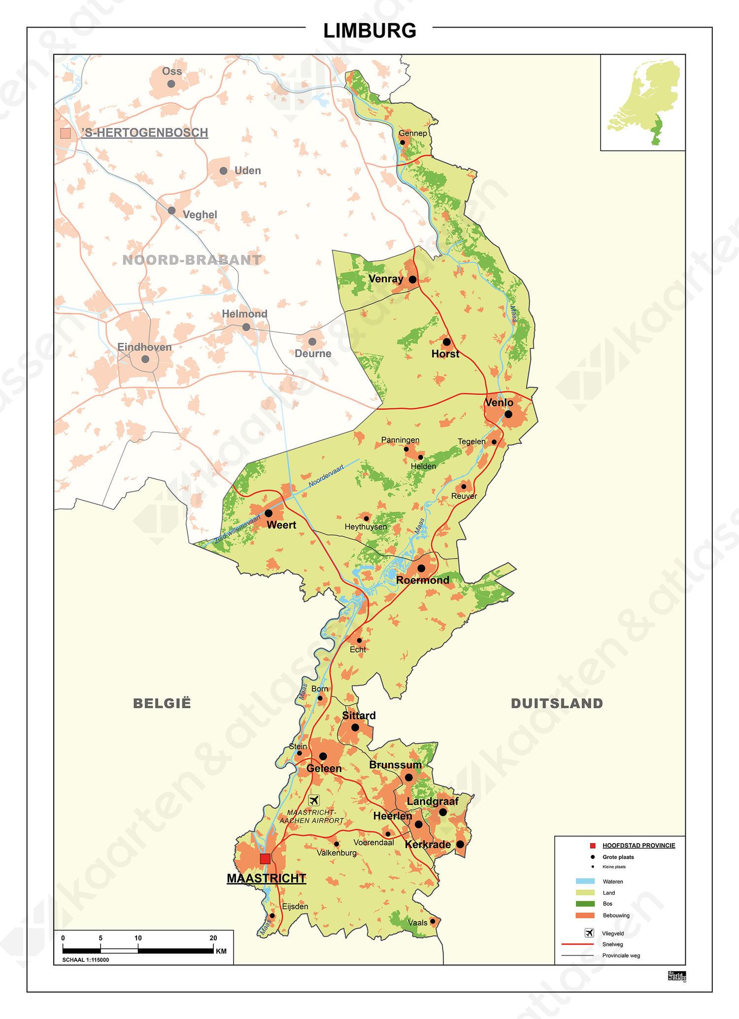 Digitale Kaart Limburg