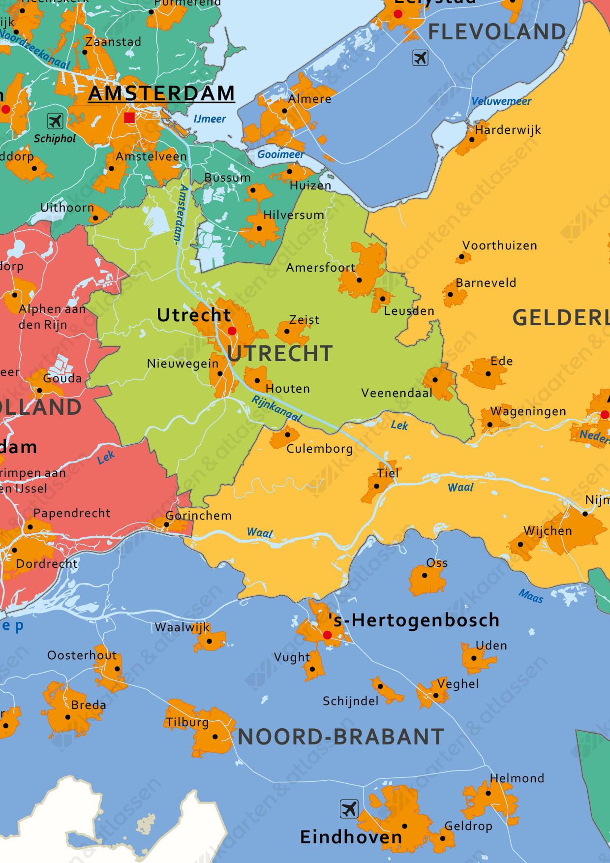 Digitale schoolkaart Koninkrijk der Nederlanden