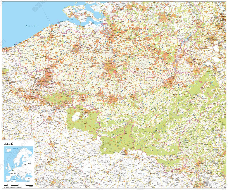 Digitale Landkaart België 1387