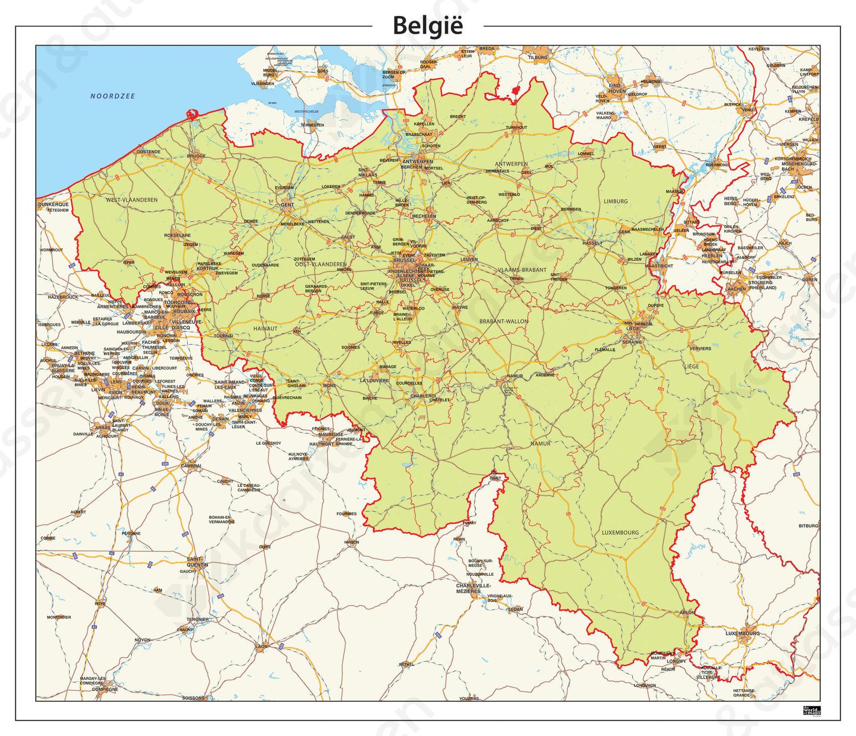 Belgie Kaart Staatkundig 344 Kaarten En Atlassen Nl