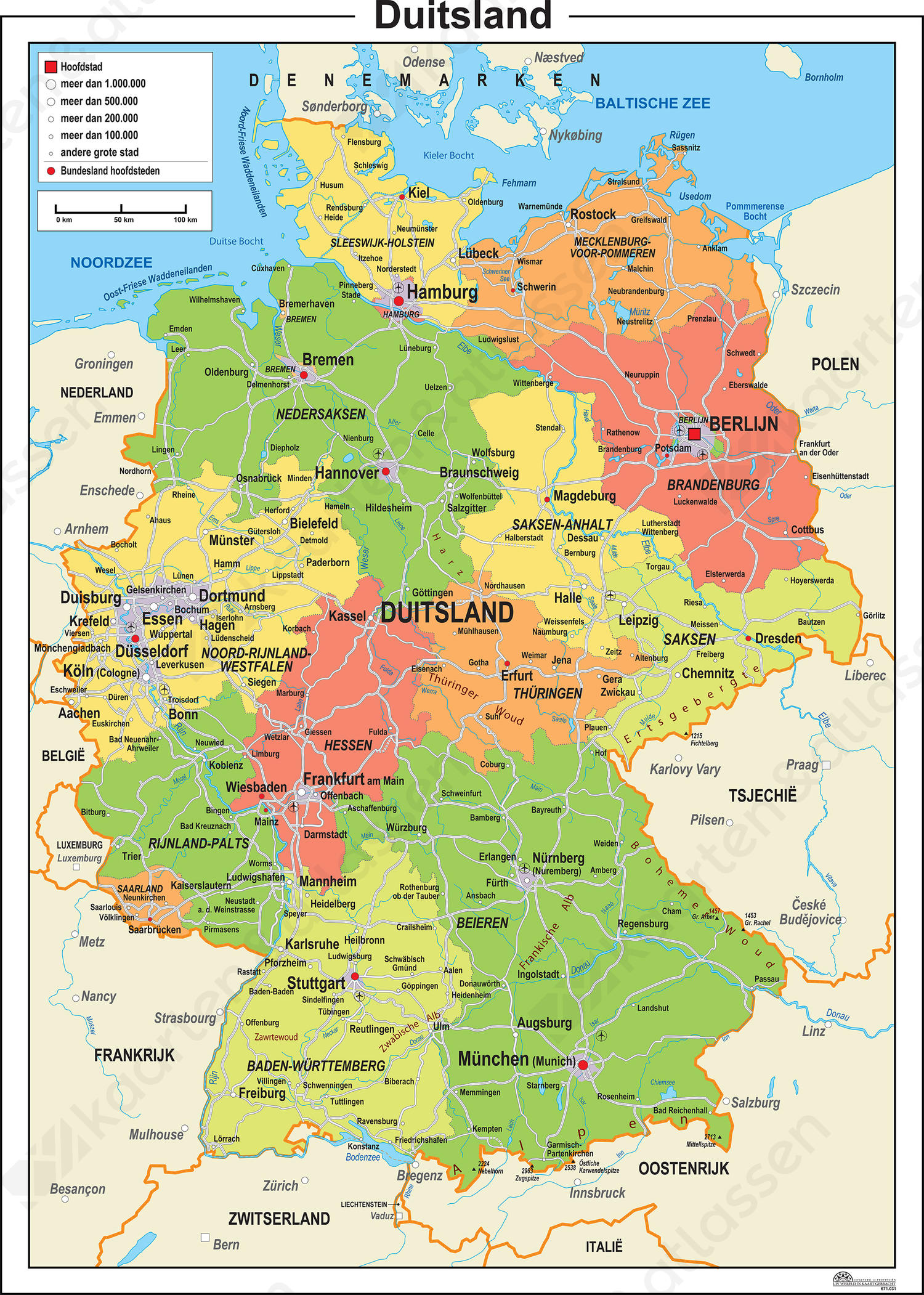 Heloohaloo 25 Luxe Kaart West Duitsland