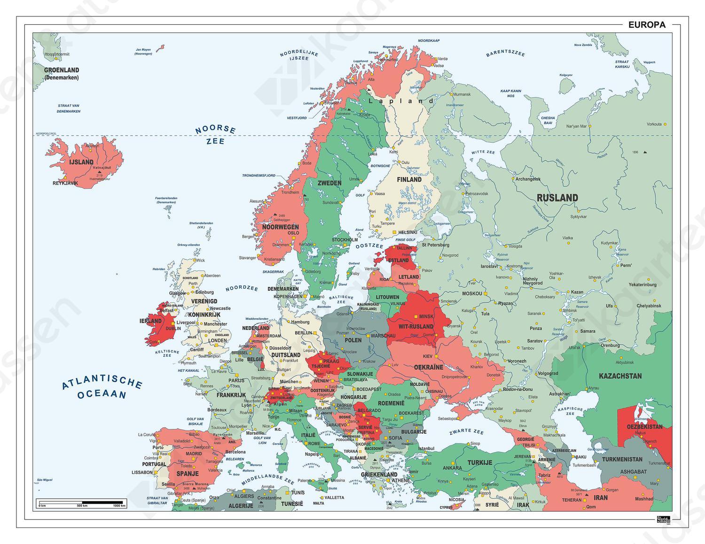 Digitale Europakaart Nederlandstalig