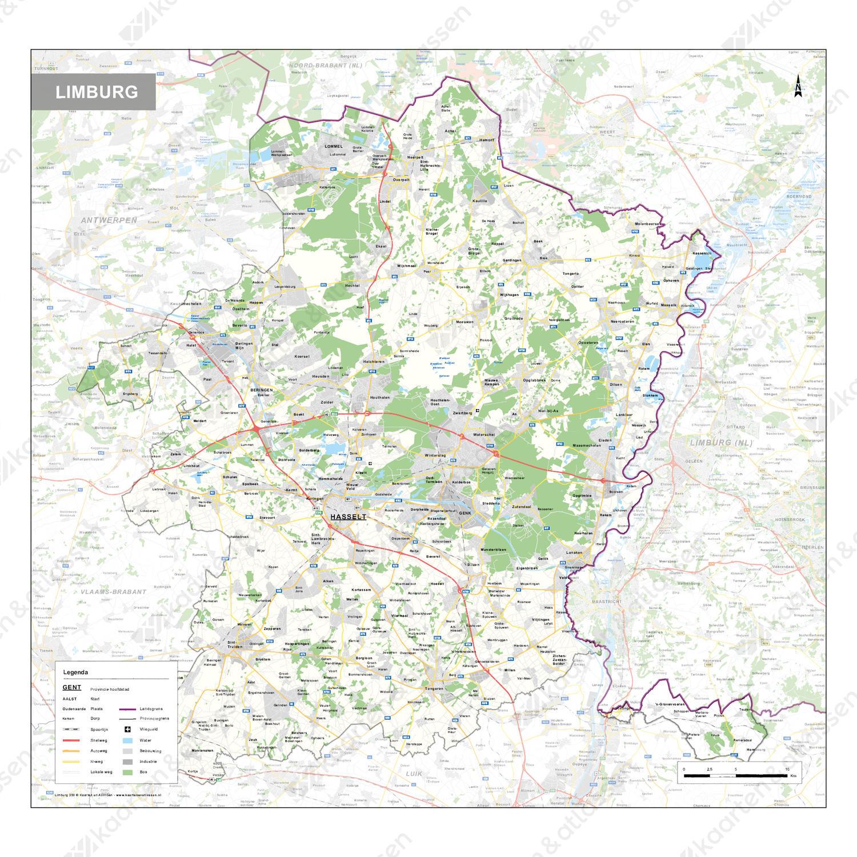 Limburg Provinciekaart