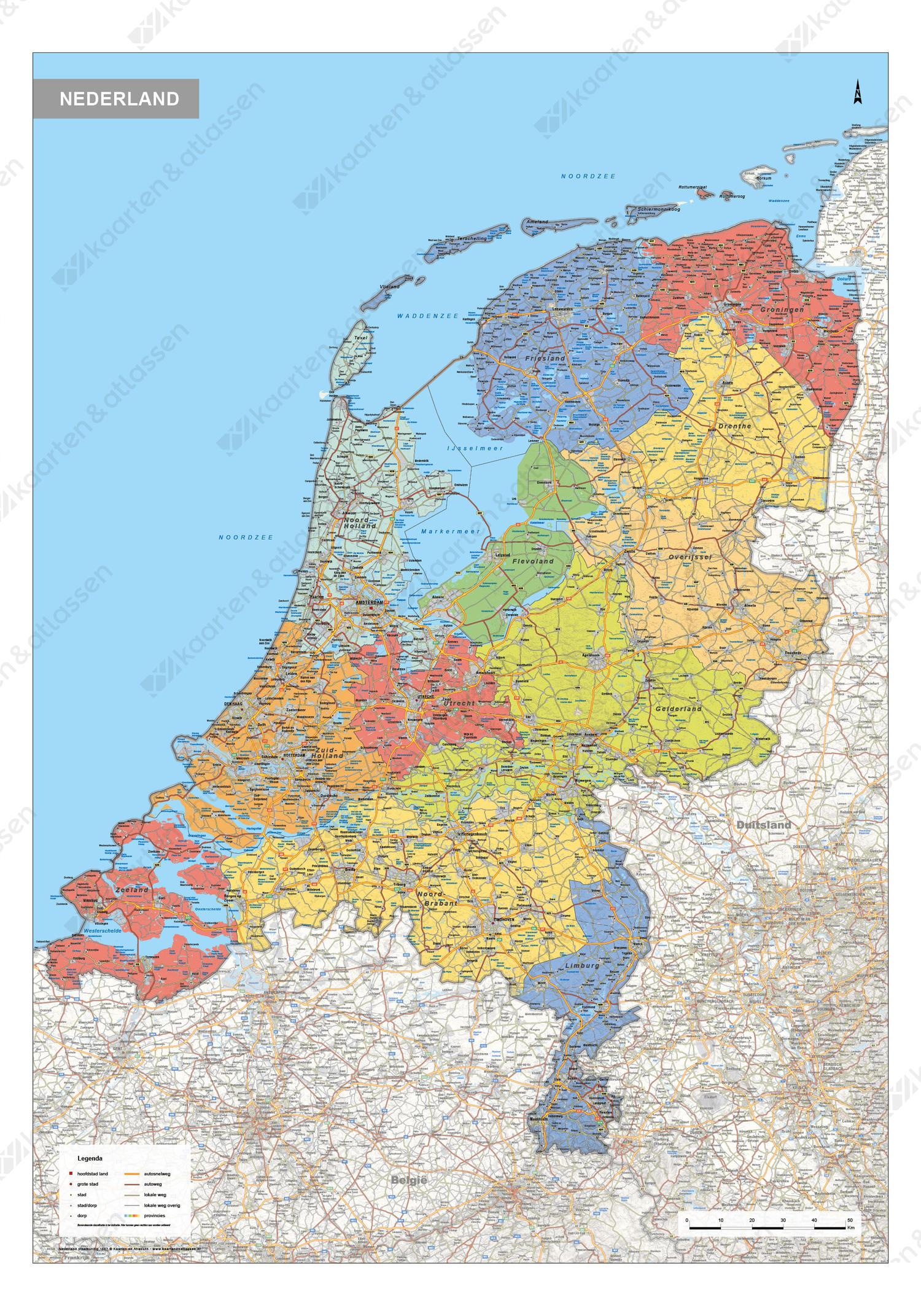 Nederland Kaart Staatkundig