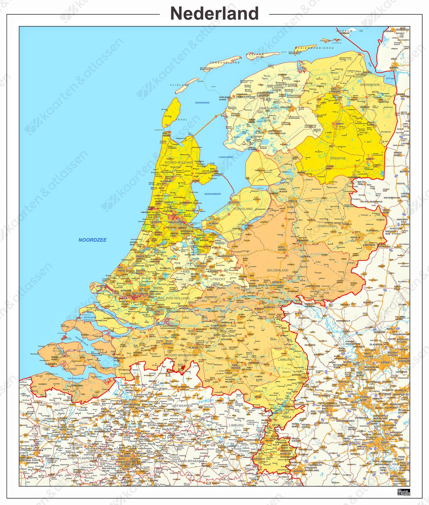 Digitale Provinciekaart Nederland