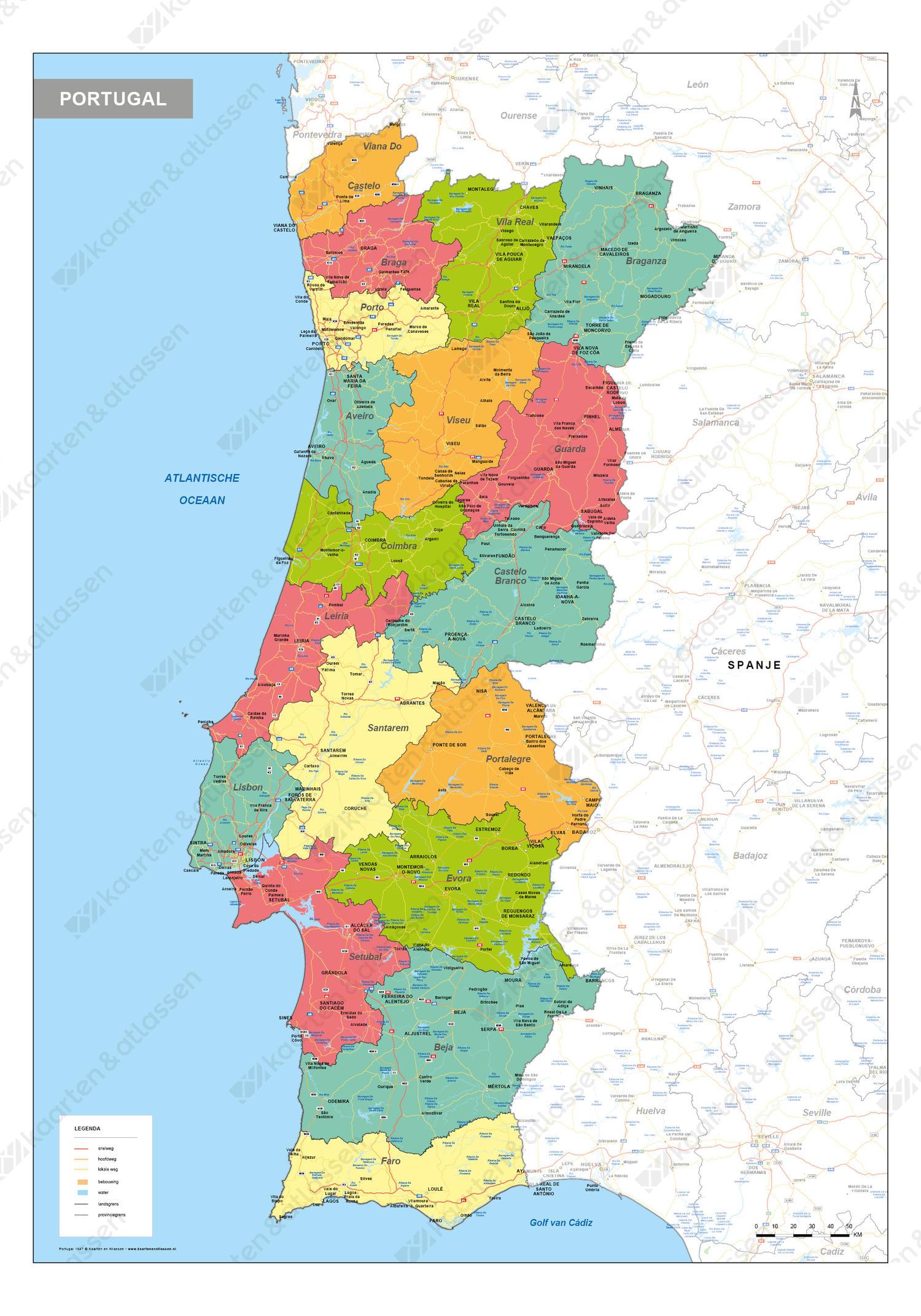 Portugal Landkaart 1547 Kaarten En Atlassen Nl