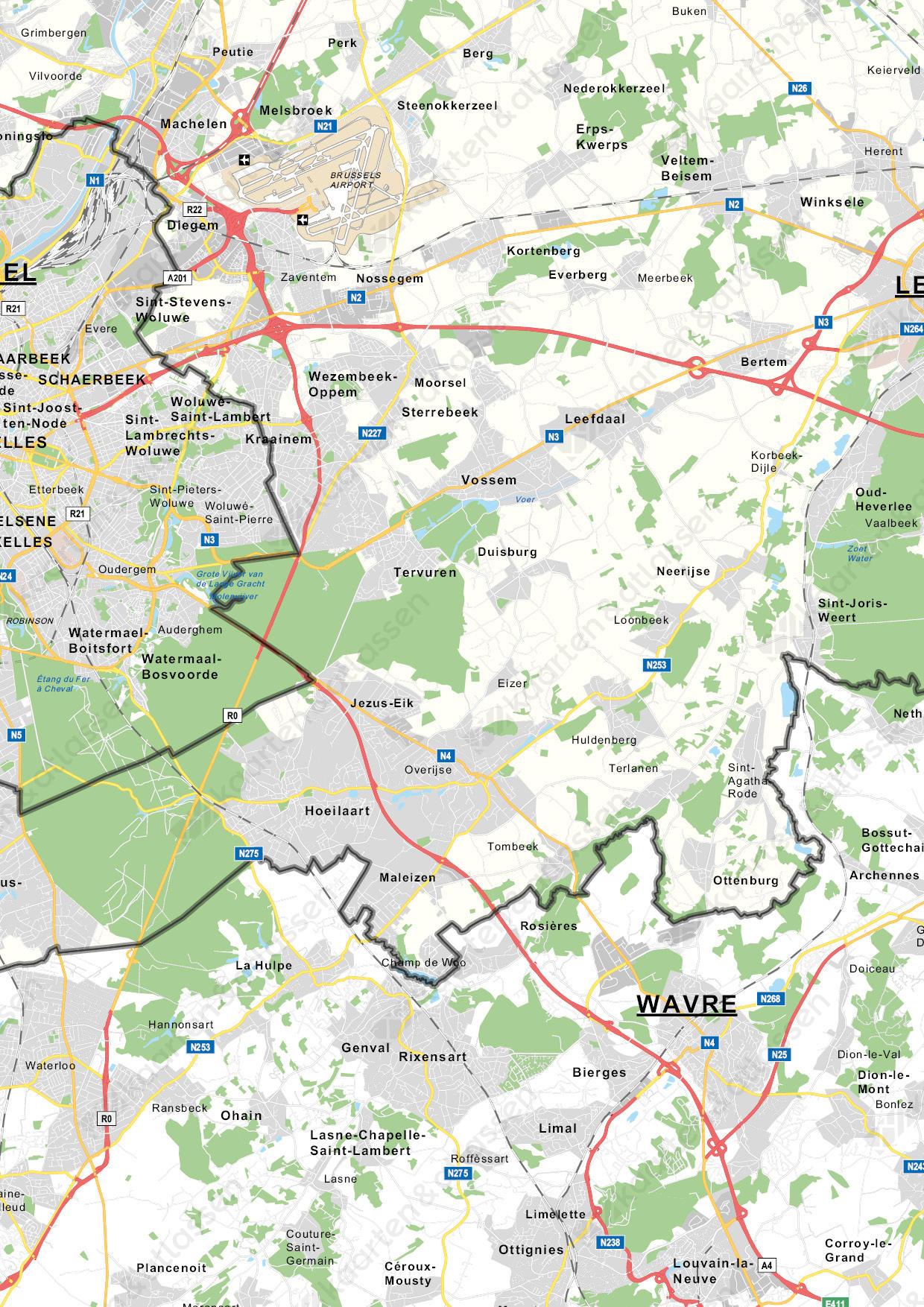 Vlaams-Brabant Provinciekaart