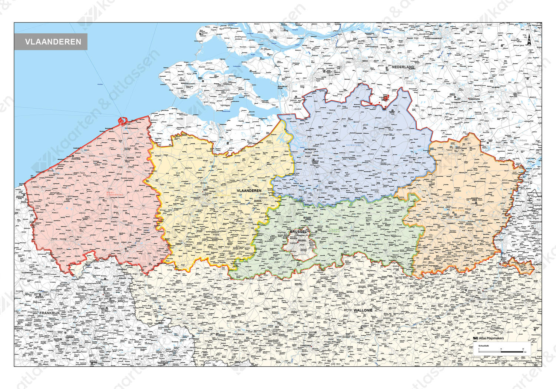Vlaanderen Staatkundige Kaart