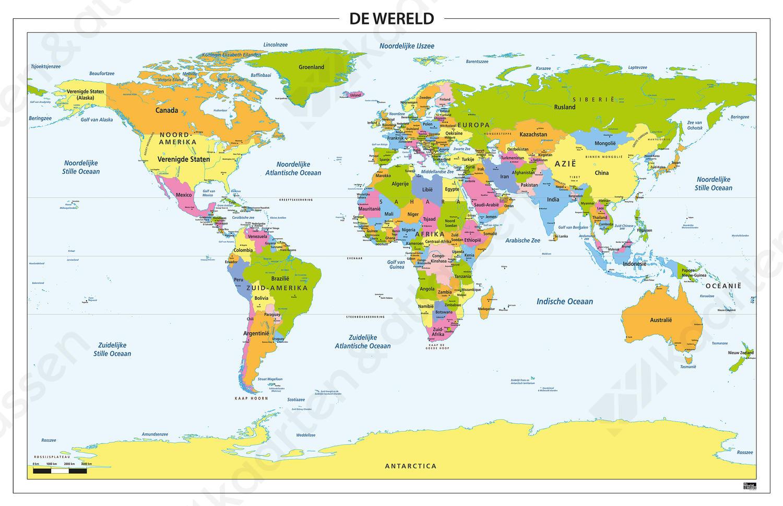 Wereldkaart Staatkundig 314 Kaarten En Atlassen Nl