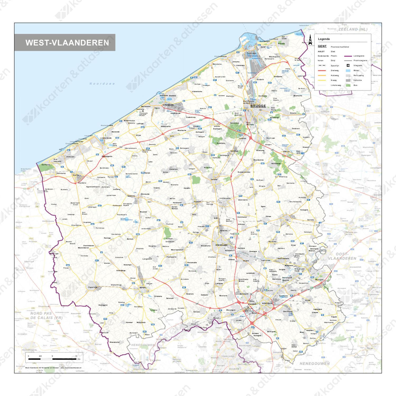 Provinciekaart West-Vlaanderen