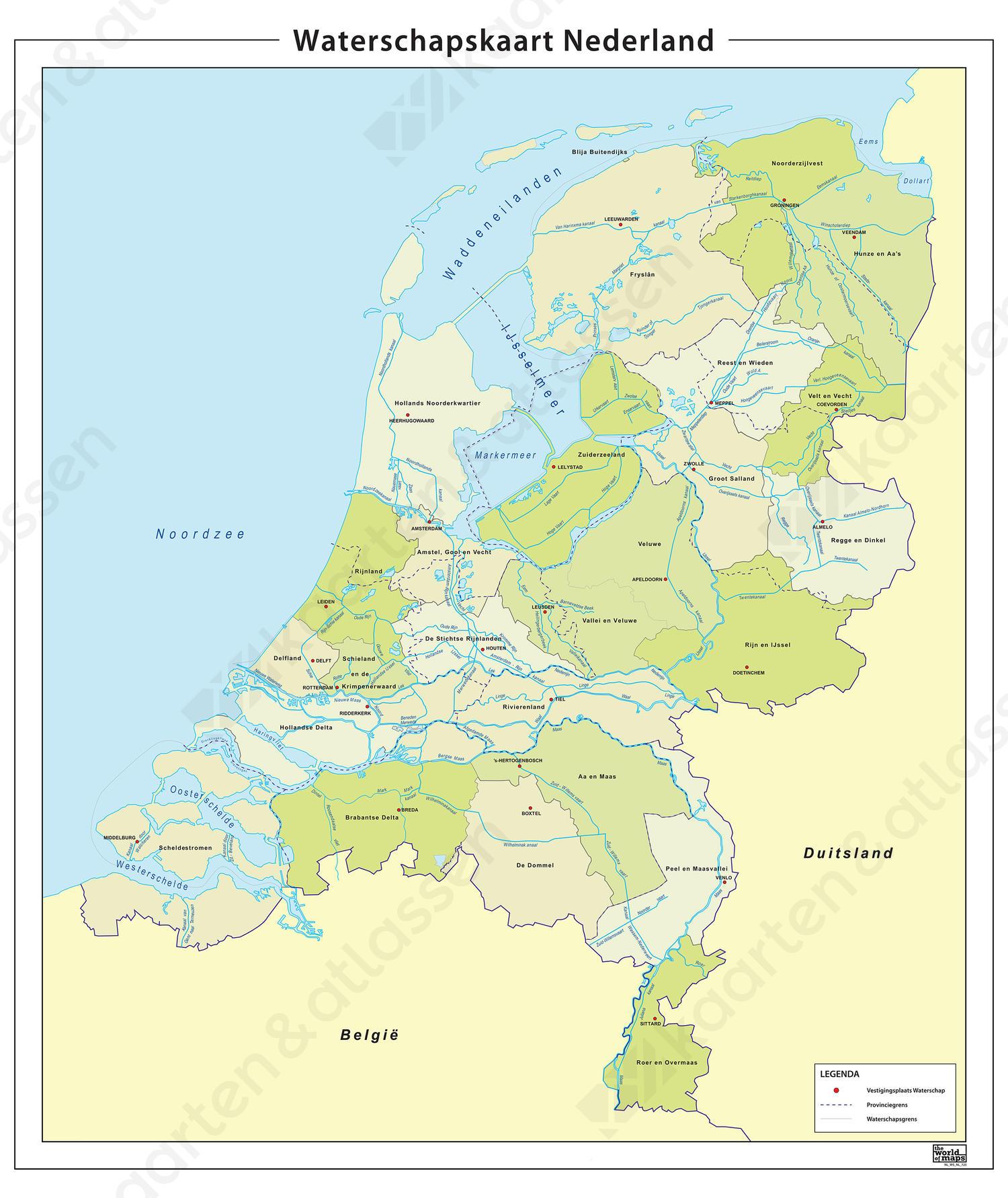 Digitale Waterschapskaart van Nederland