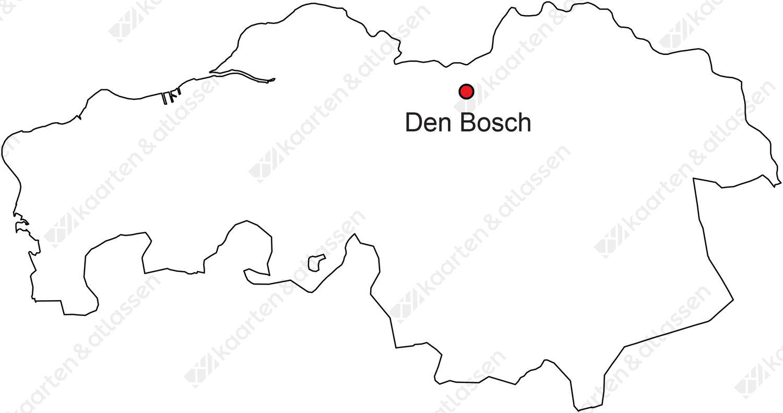 Digitale Provinciekaart Van Noord Brabant Gratis Kaarten En