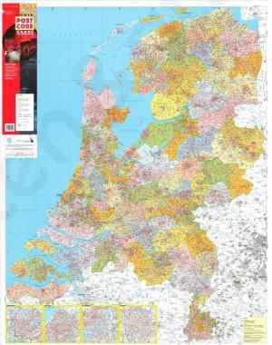 Grote Postcodekaart van Nederland