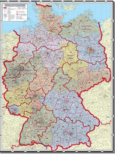 Postcodekaart Duitsland Kaarten En Atlassen Nl