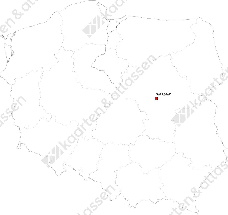Gratis digitale kaart Polen