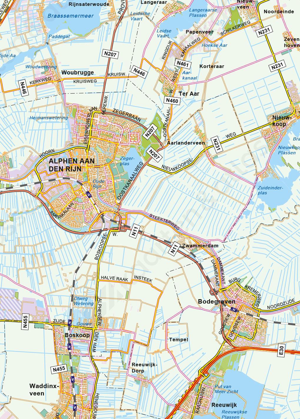 Kaart van de Randstad