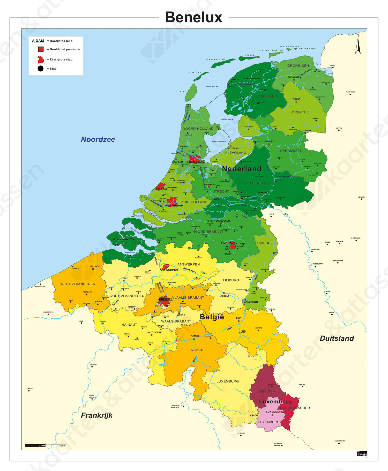 Schoolkaart Benelux