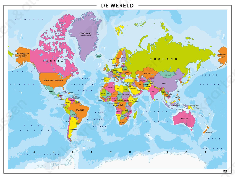 Digitale Eenvoudige Wereldkaart 158 Kaarten En Atlassen Nl