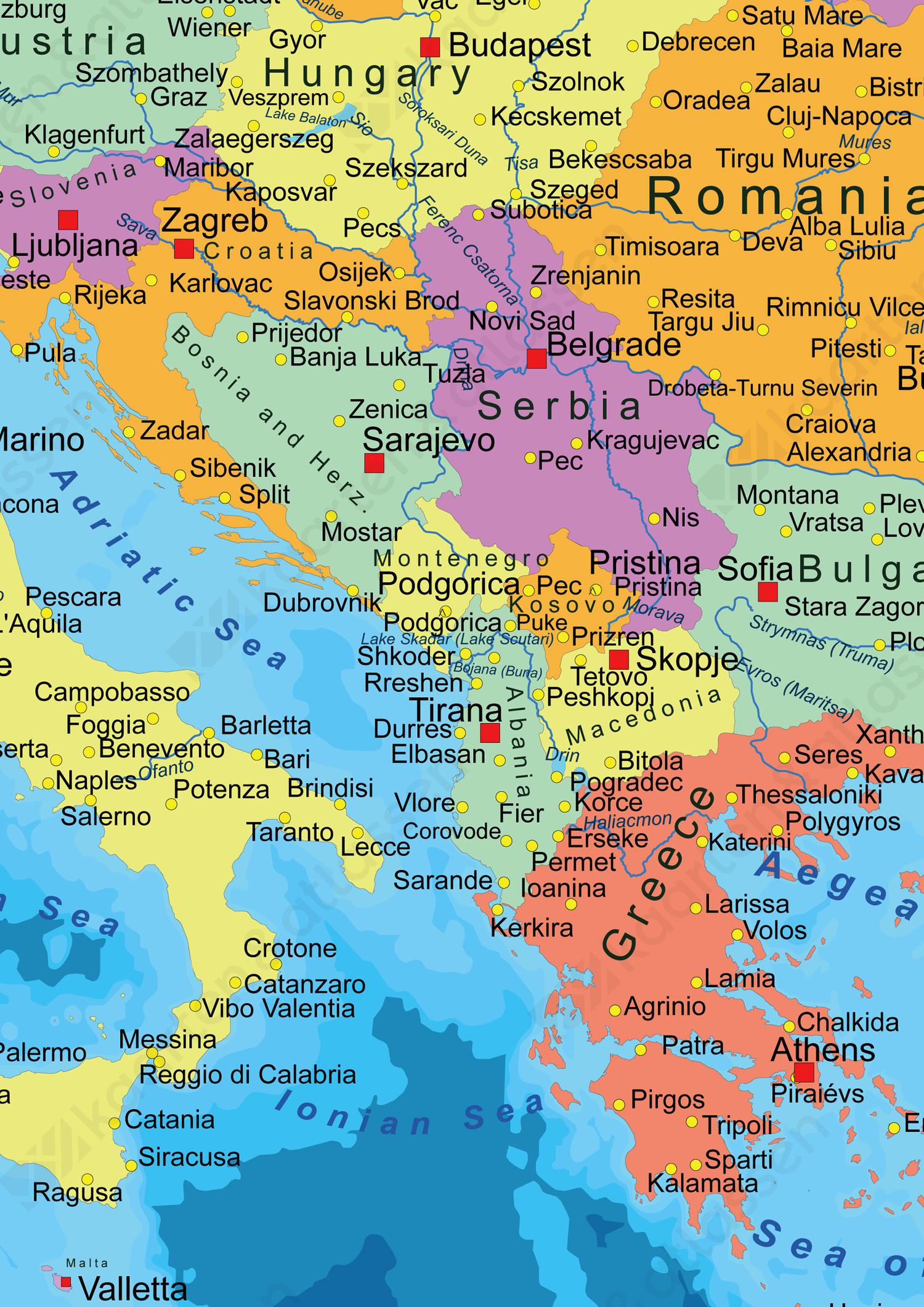 Europakaart Staatkundig
