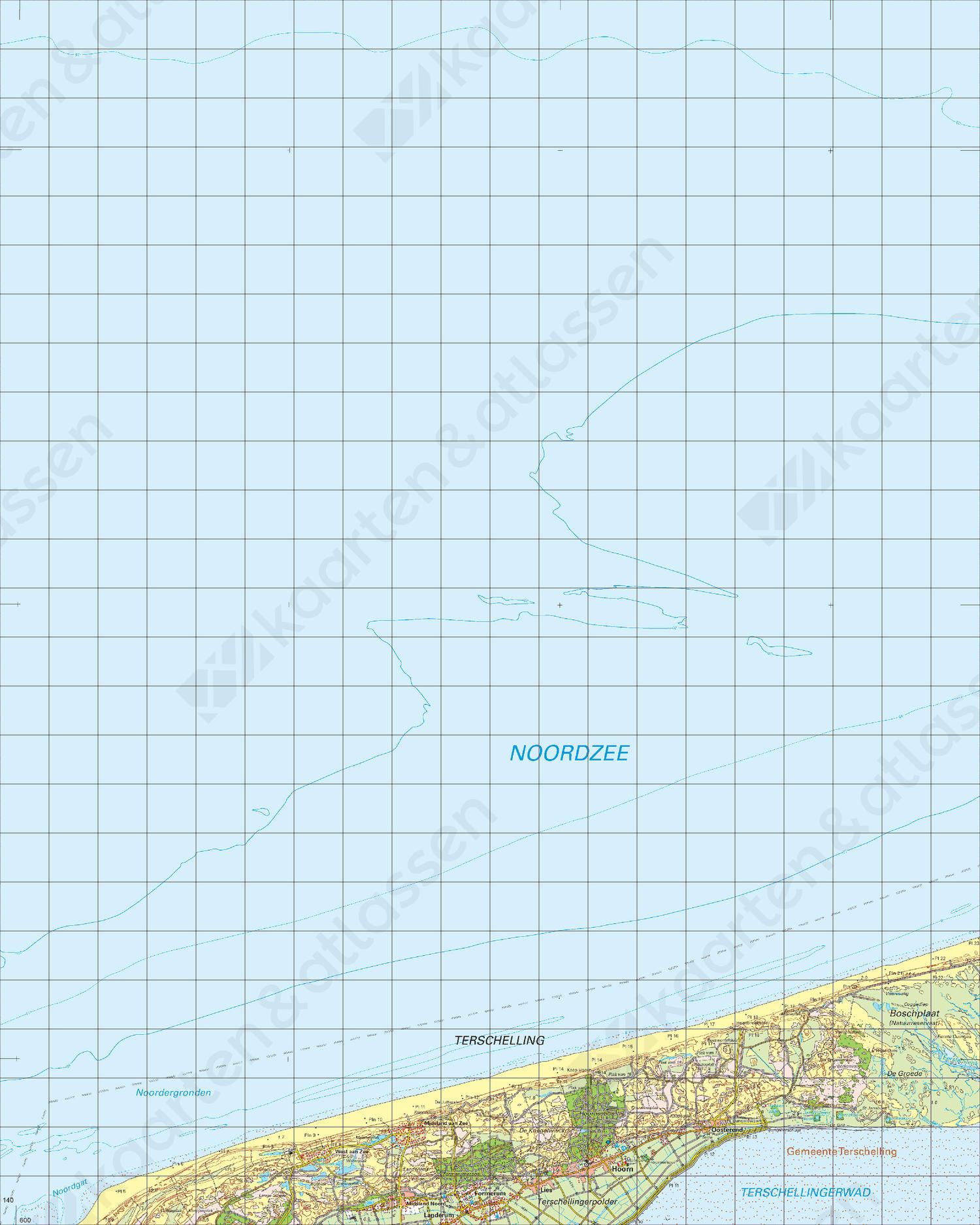 Topografische Kaart 1 West Terschelling