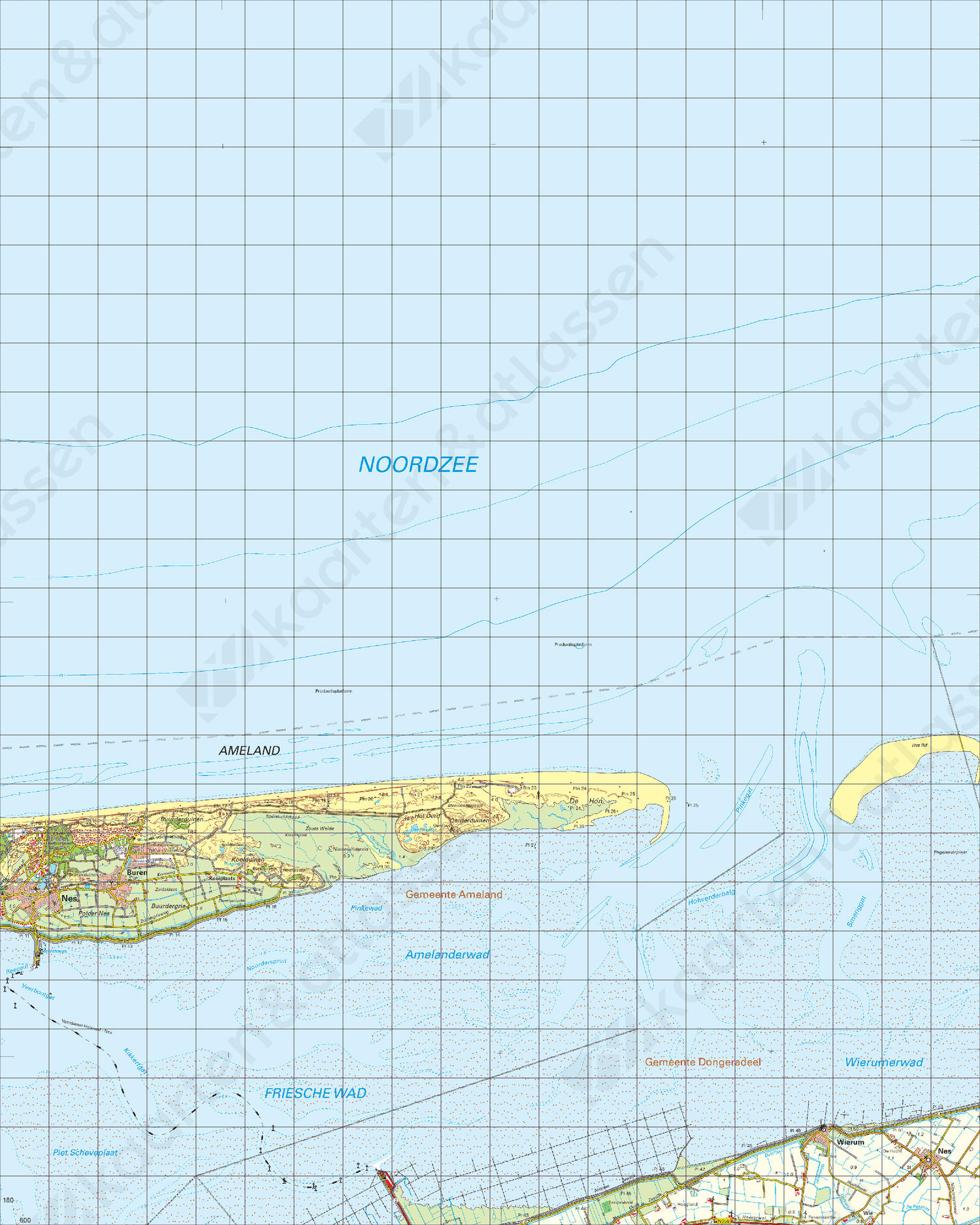 Topografische Kaart 2 West Schiermonnikoog
