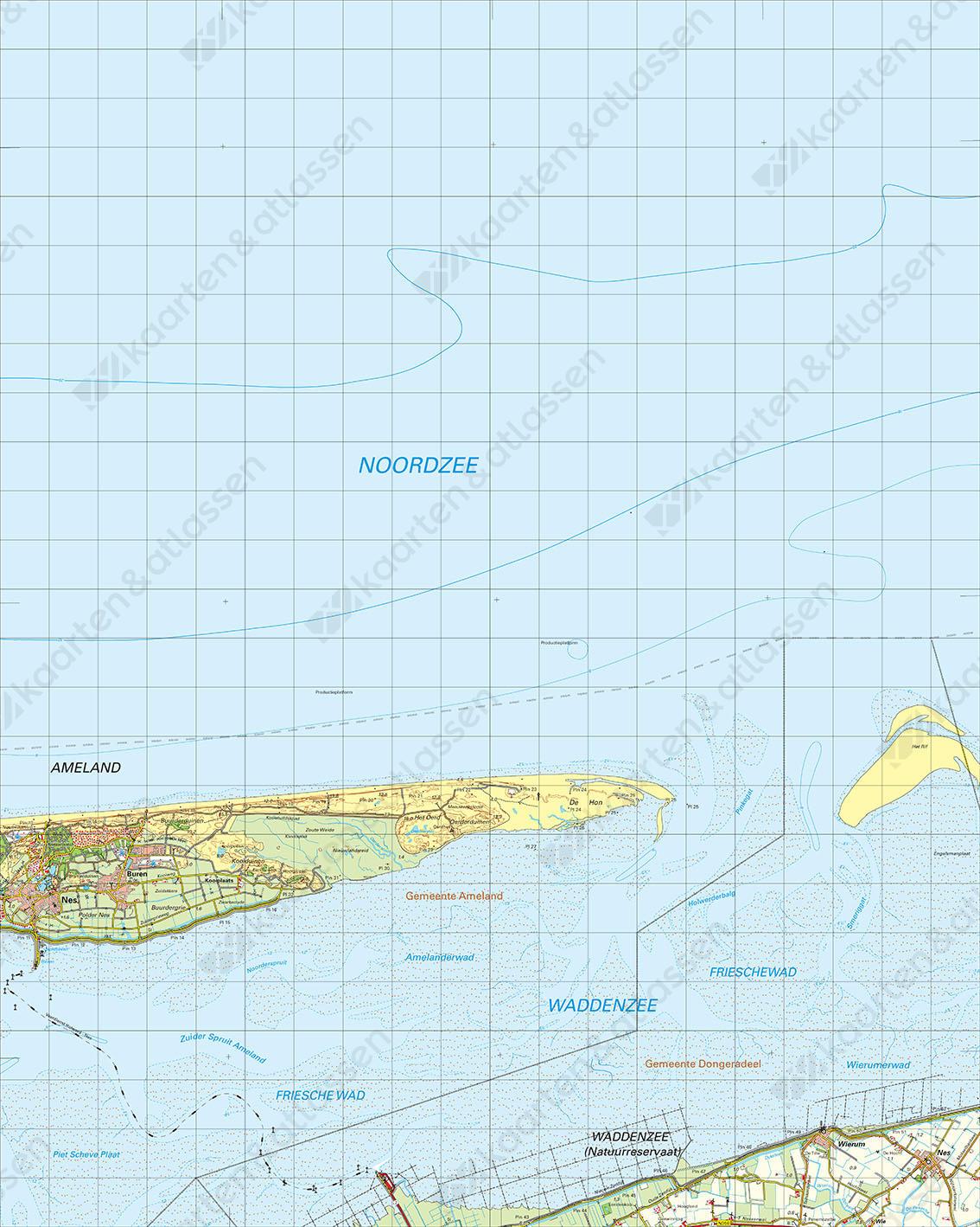 Digitale Topografische Kaart 2 West Schiermonnikoog