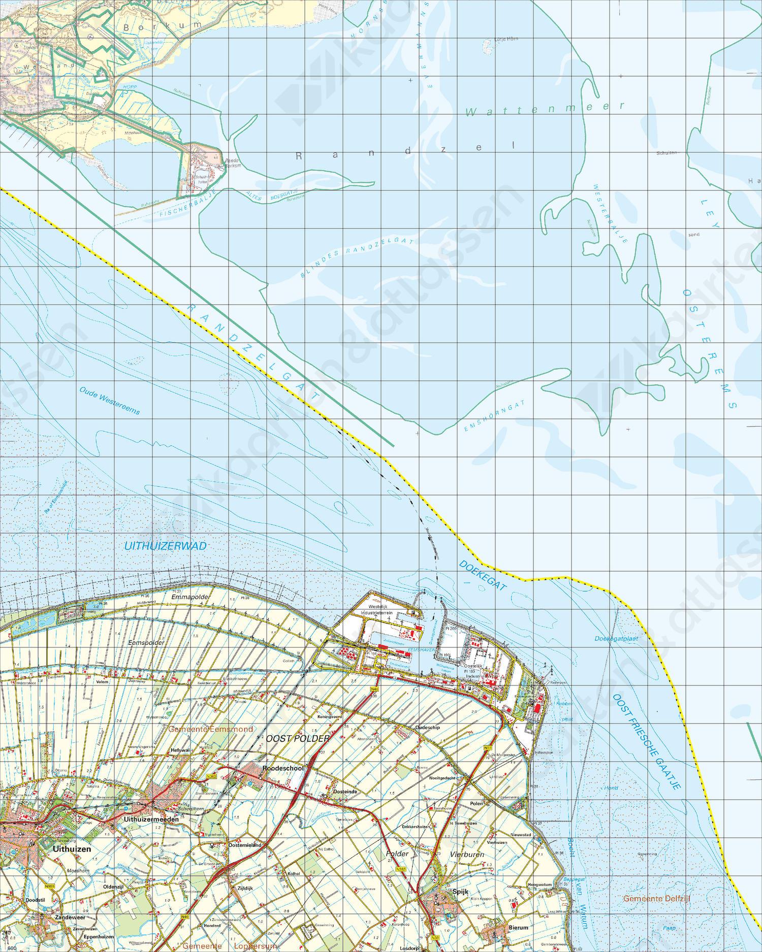 Topografische Kaart 3 Oost Uithuizen
