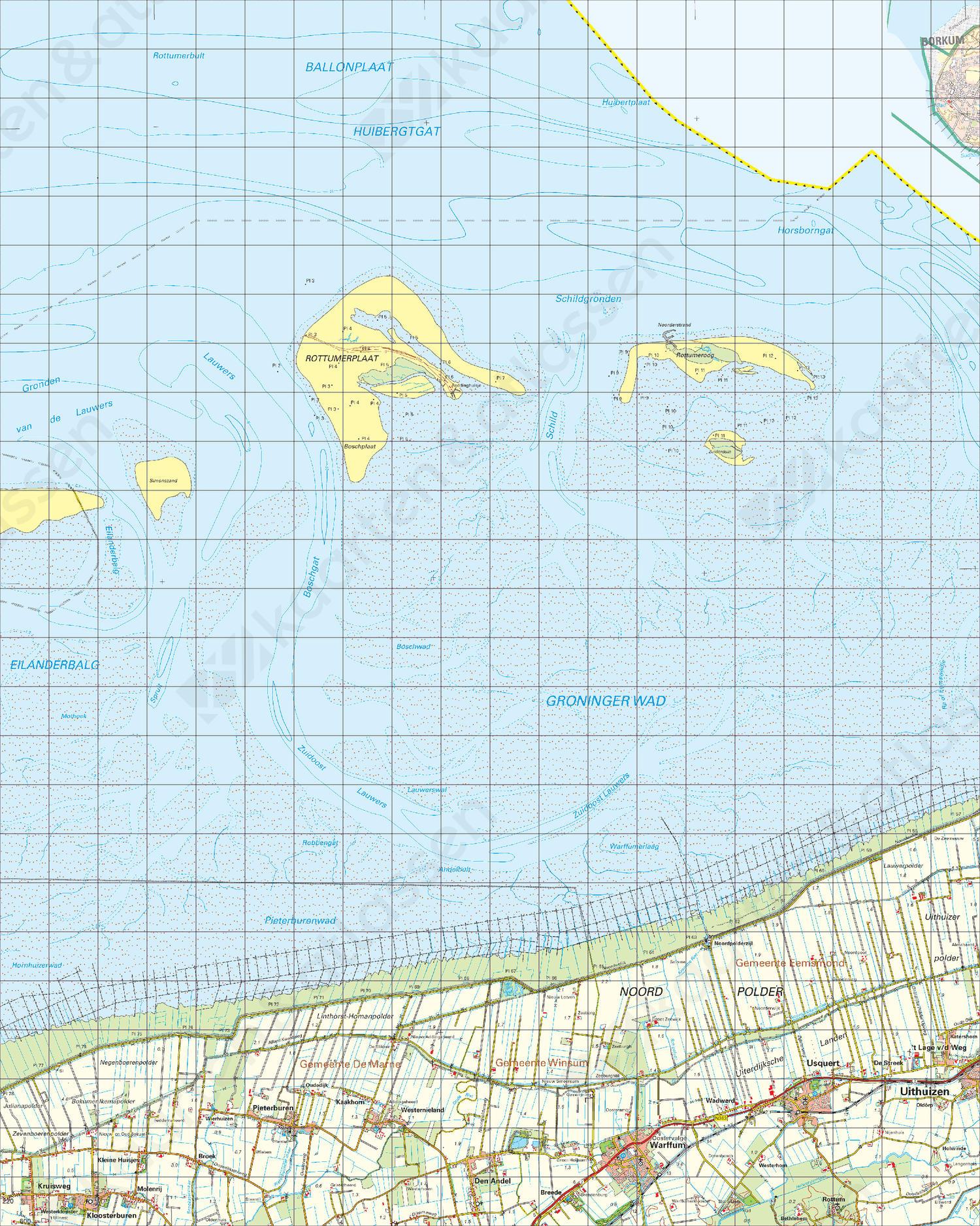 Topografische Kaart 3 West Uithuizen