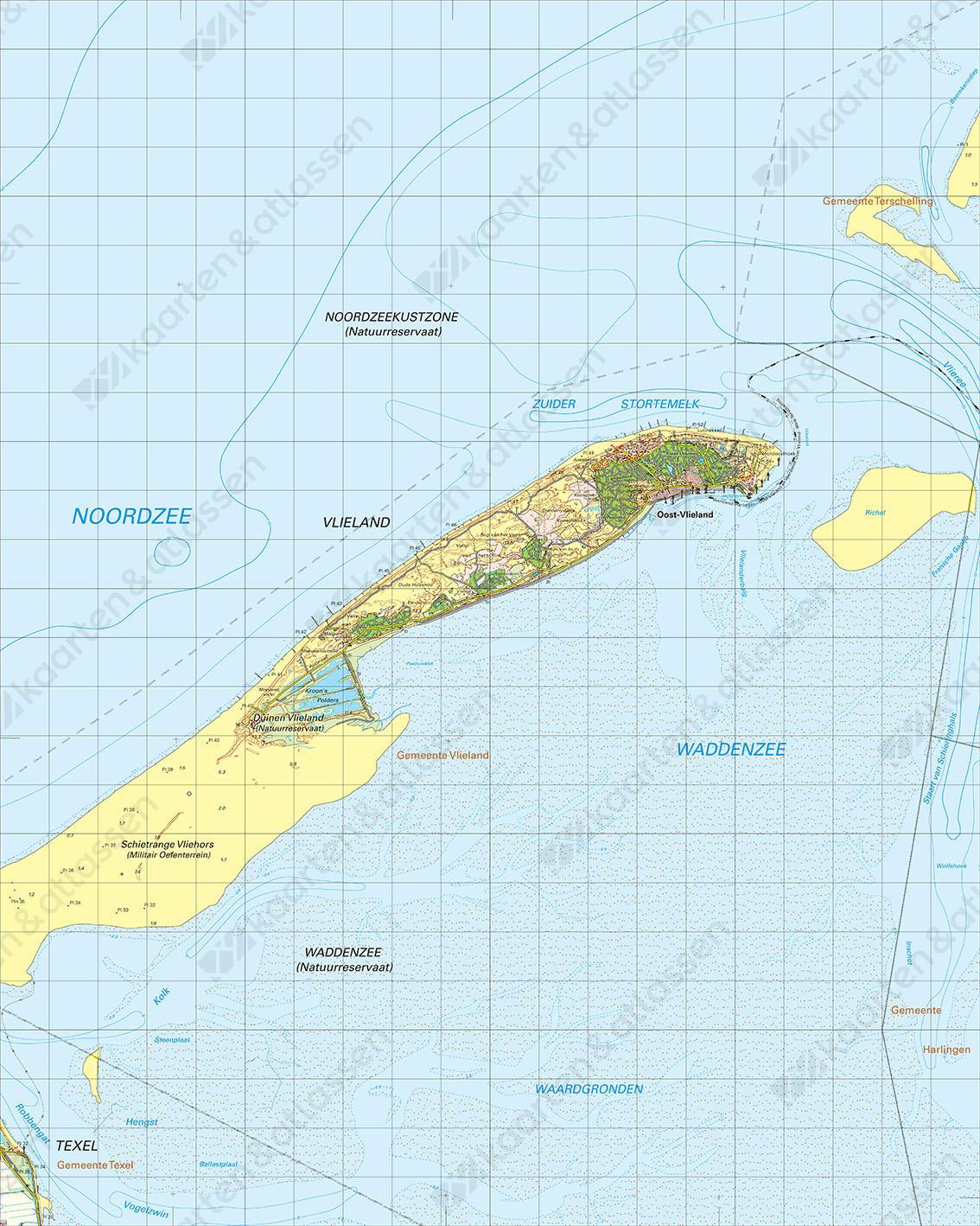 Digitale Topografische Kaart 4 Oost Vlieland