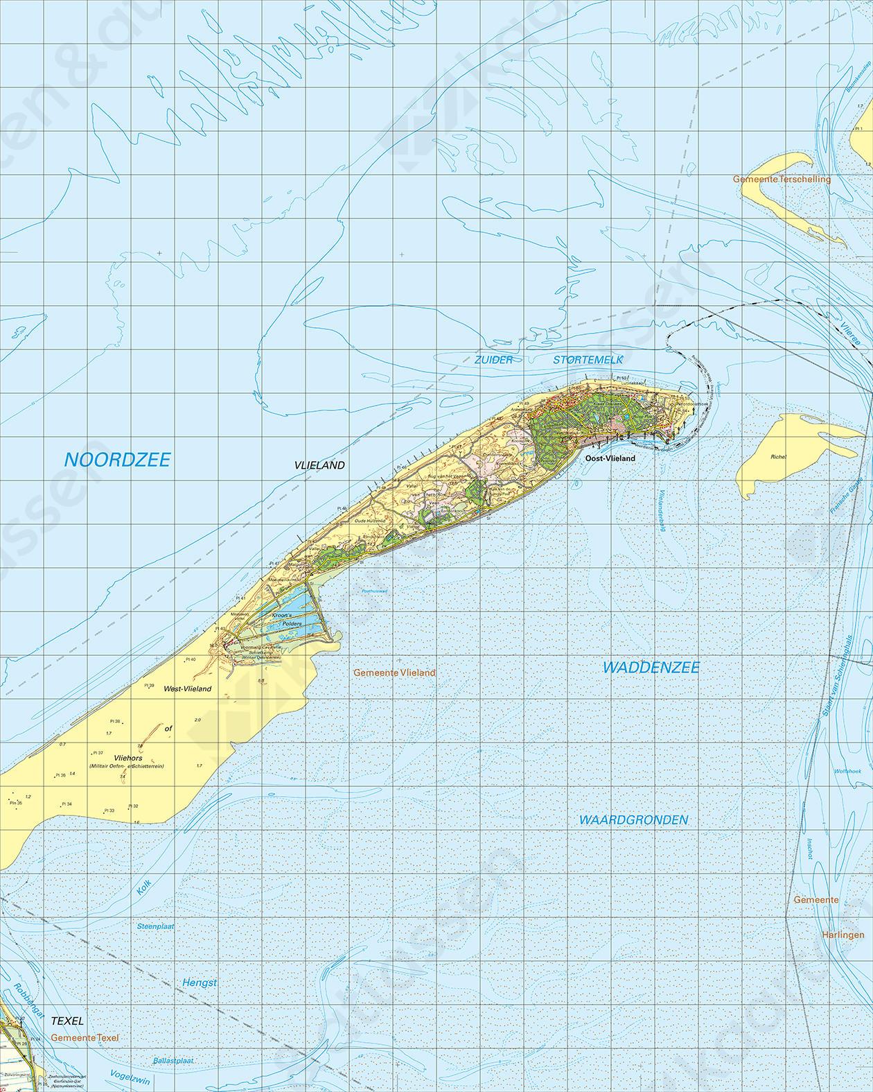 Topografische Kaart 4 Oost Vlieland