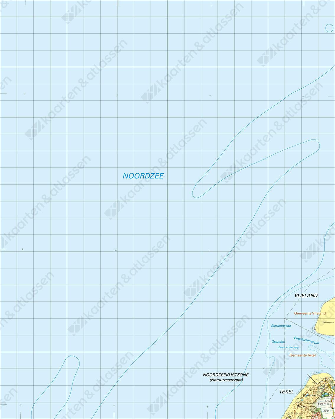 Digitale Topografische Kaart 4 West Vlieland
