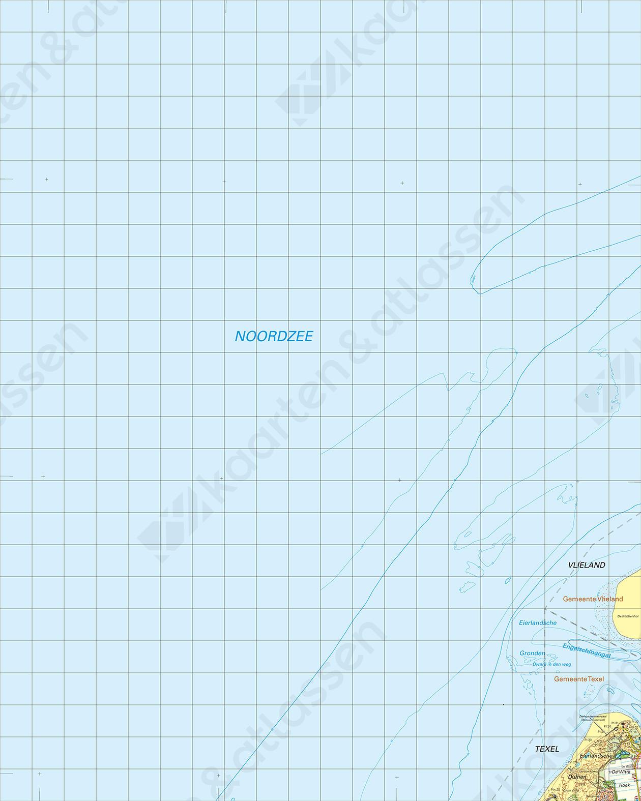 Topografische Kaart 4 West Vlieland