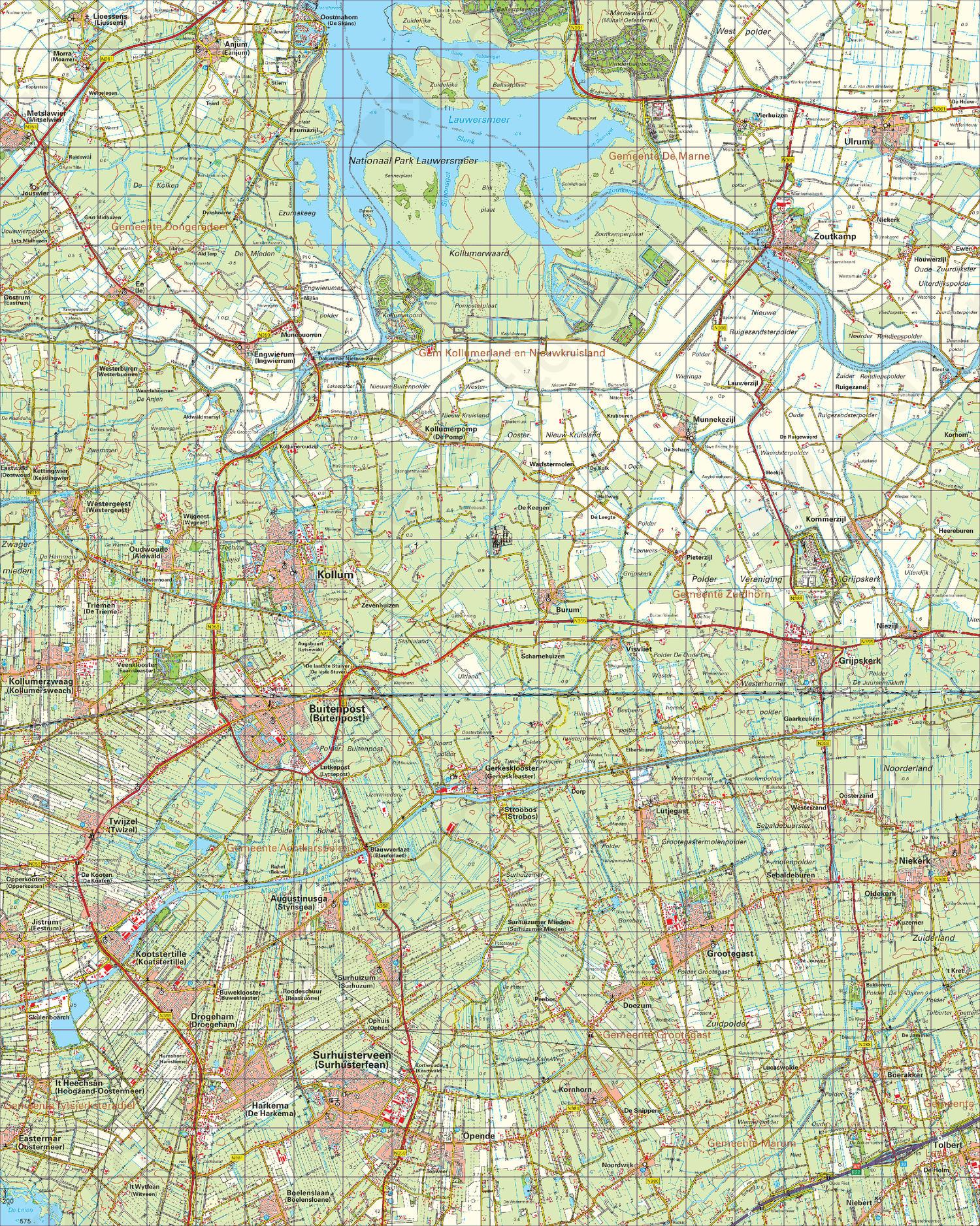 Digitale Topografische Kaart 6 Oost Leeuwarden