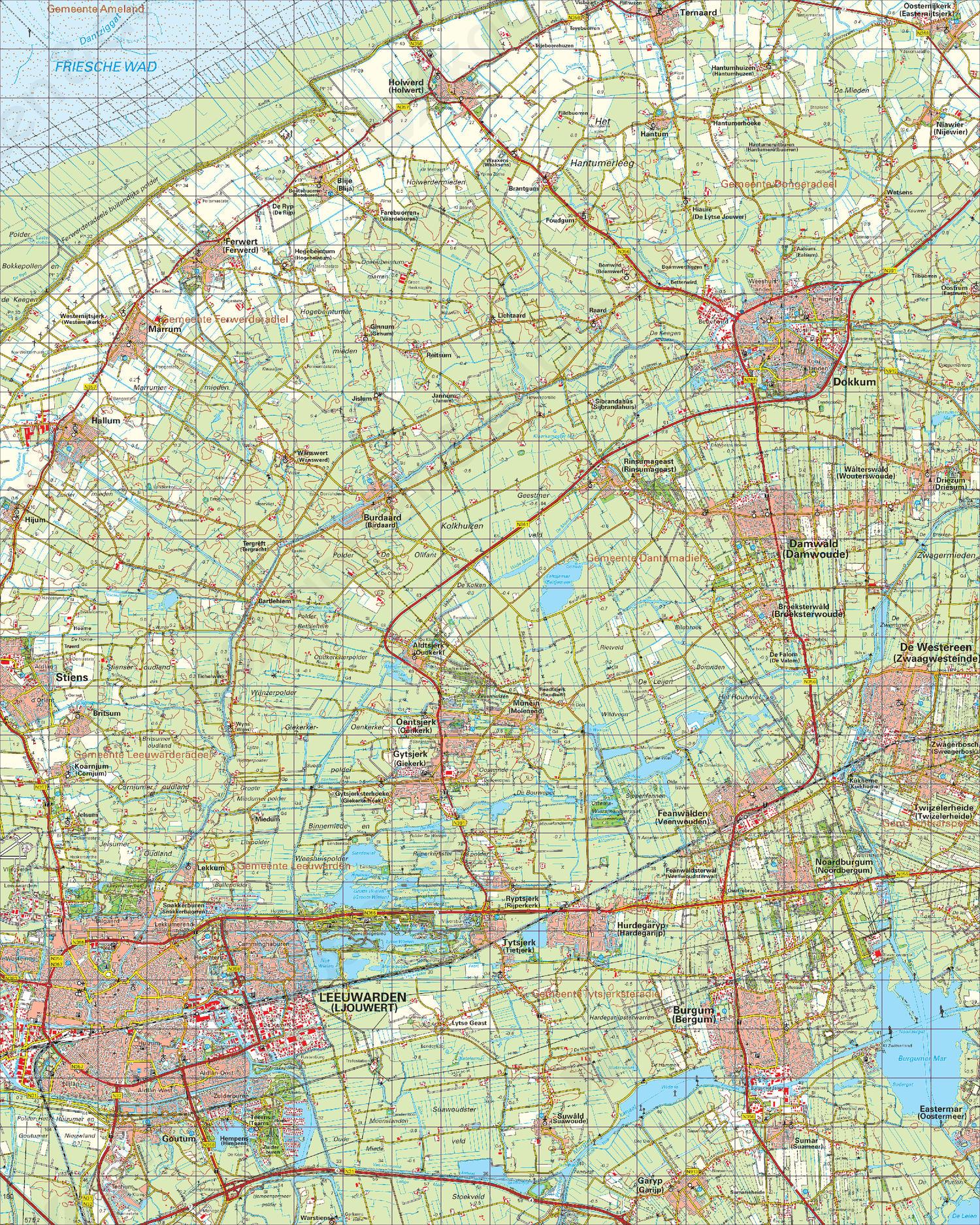 Topografische Kaart 6 West Leeuwarden