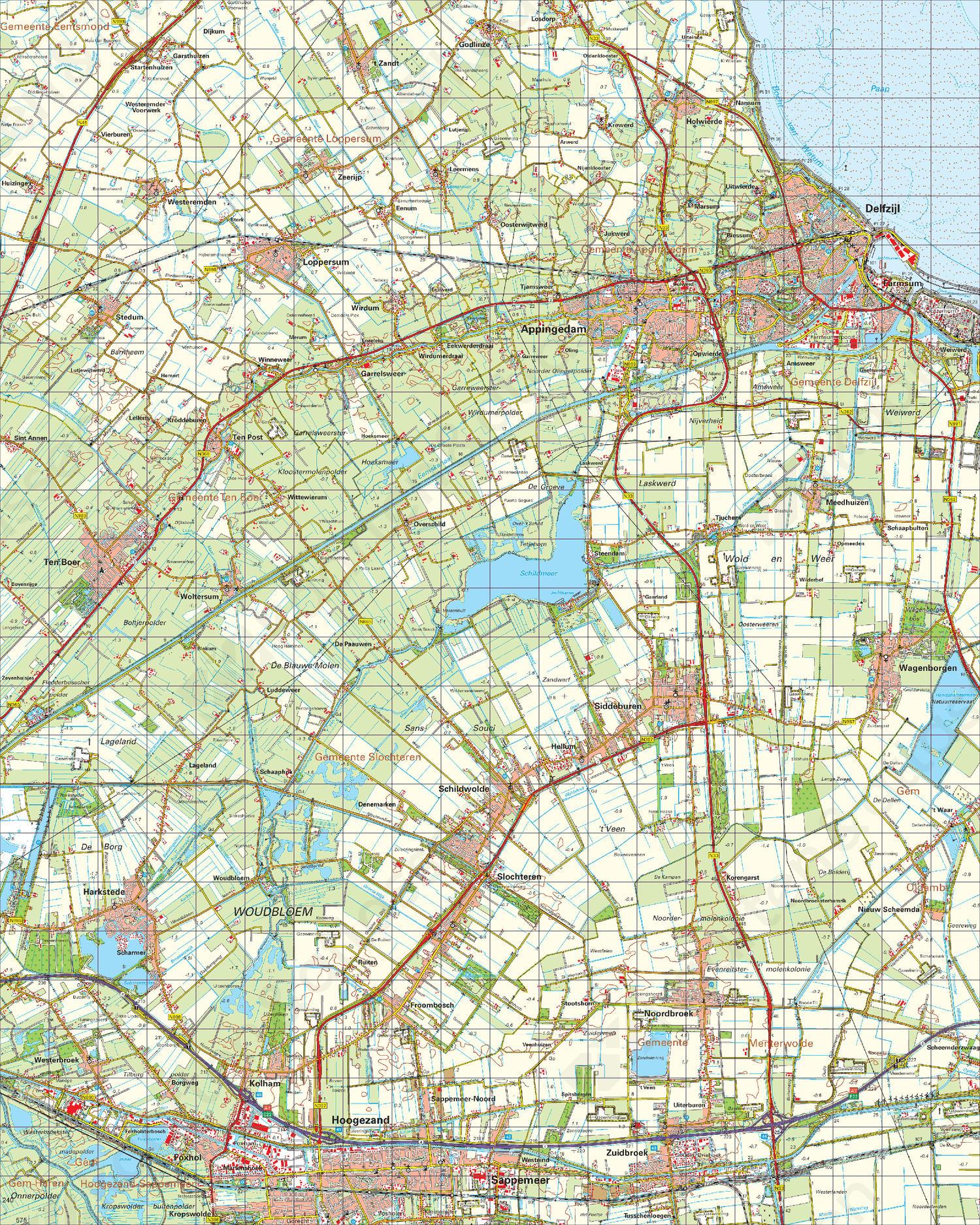 Topografische Kaart 7 Oost Groningen