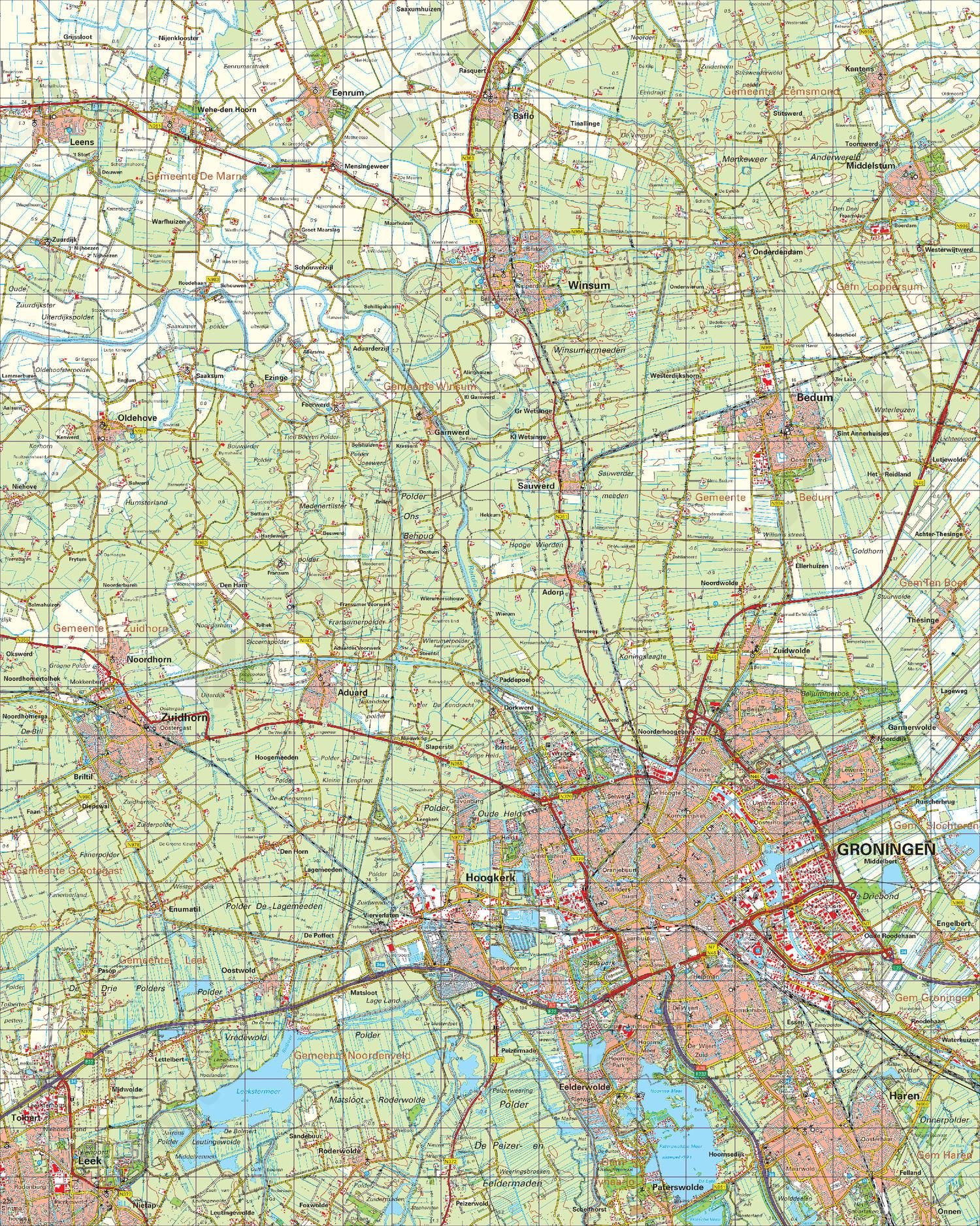 Digitale Topografische Kaart 7 West Groningen