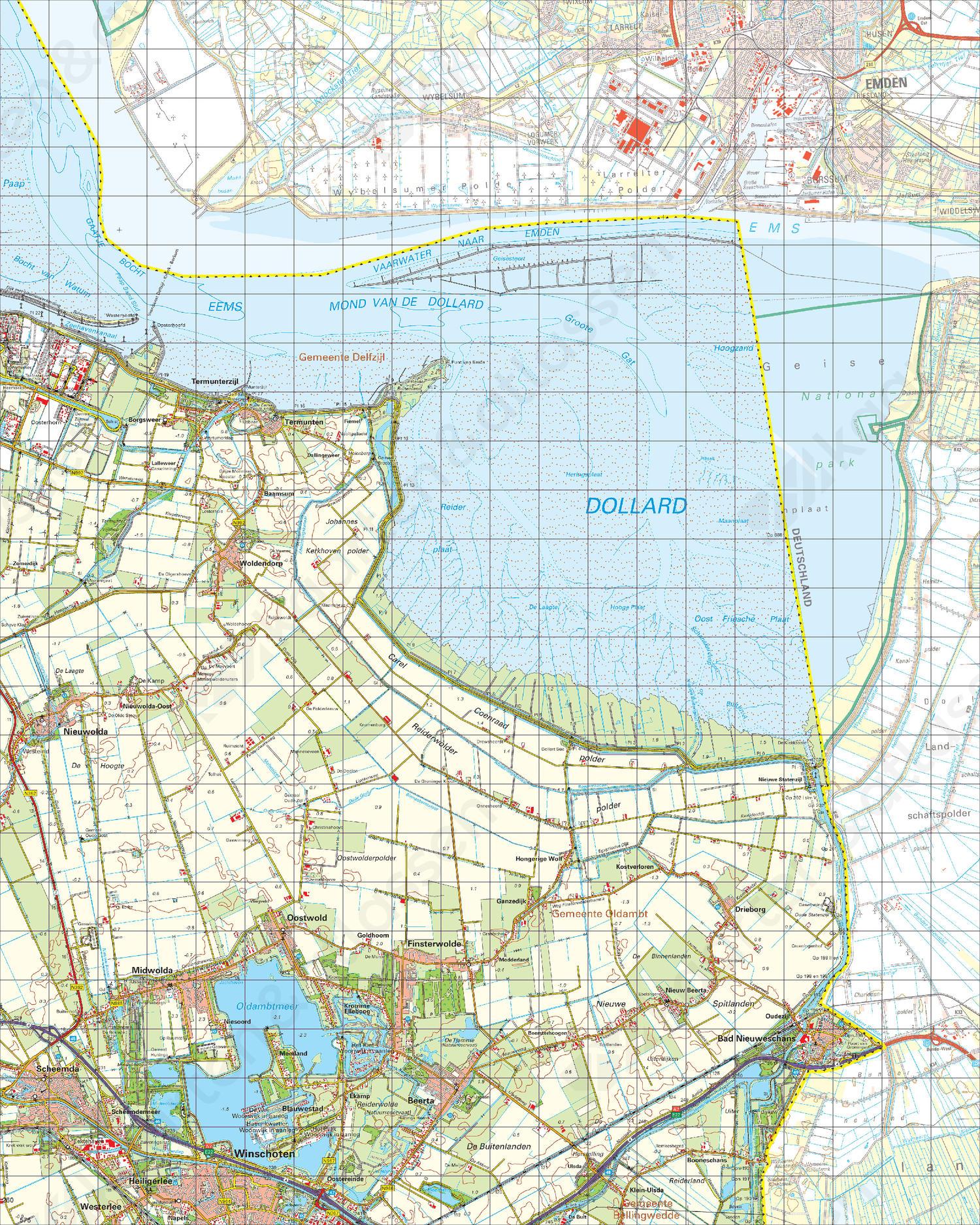 Topografische Kaart 8 West Nieuweschans