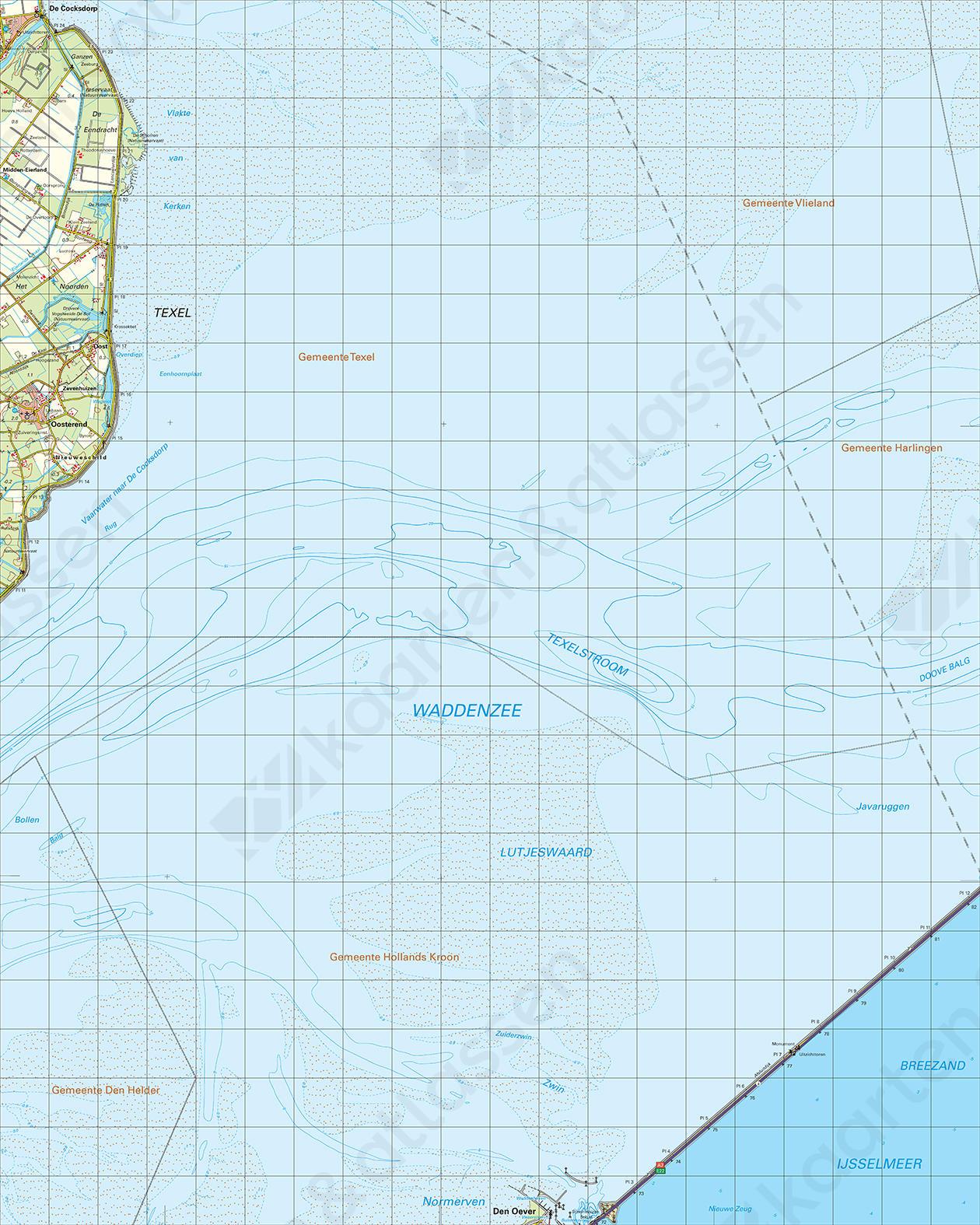 Topografische Kaart 9 Oost Den Helder